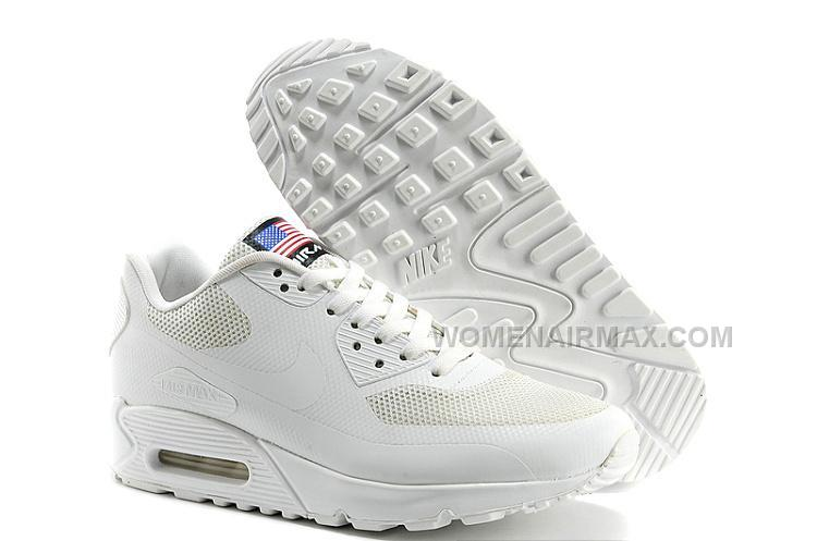 the best attitude e79fb 52ef6 Cheapest Nike Air Max 90 Flag Usa Womens Shoes Classic All White Lovers  Shoes