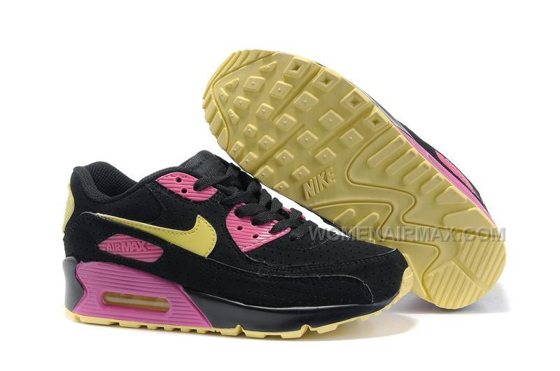 122d5dfb93 Nike Air Max 90 Womens Shoes Wholesale Black Yellow Pink, Price ...